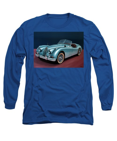 Jaguar Xk140 1954 Painting Long Sleeve T-Shirt