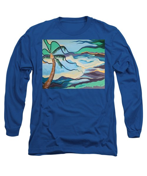 Jamaican Sea Breeze Long Sleeve T-Shirt by Jan Steinle