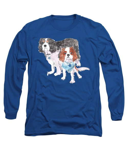 Jeffs Dogs Watercolor Kmcelwaine  Long Sleeve T-Shirt