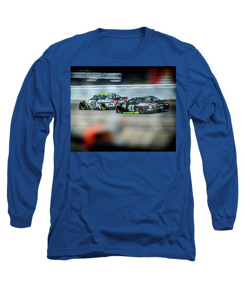 Jimmie Johnson Charging Ahead At Mis Long Sleeve T-Shirt