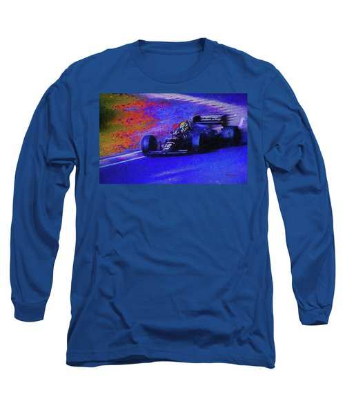 Long Sleeve T-Shirt featuring the mixed media John Player Special by Marvin Spates