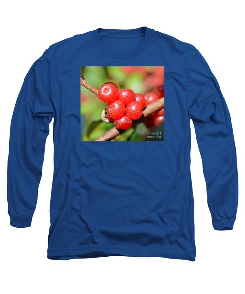 Juicy Red Long Sleeve T-Shirt by Lew Davis
