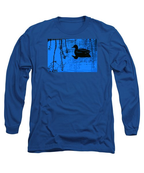 Just Floating Along Long Sleeve T-Shirt by John Rossman
