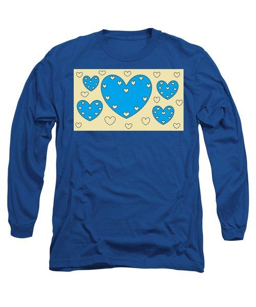 Just Hearts 4 Long Sleeve T-Shirt by Linda Velasquez