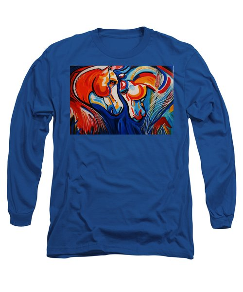 Just Horsing Around Long Sleeve T-Shirt by Nora Shepley