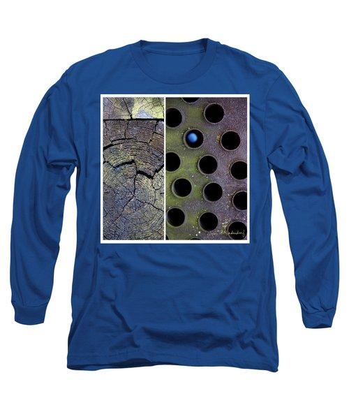 Juxtae #58 Long Sleeve T-Shirt by Joan Ladendorf