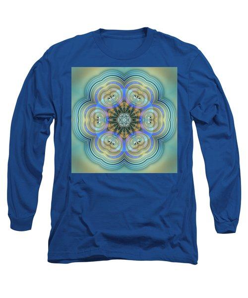 Long Sleeve T-Shirt featuring the digital art Jyoti Ahau 140 by Robert Thalmeier