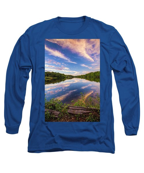 Kahler's Pond Clouds Long Sleeve T-Shirt