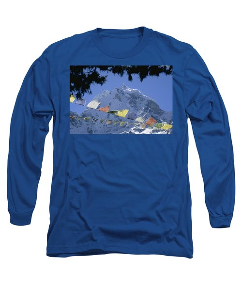 Long Sleeve T-Shirt featuring the photograph Kang Tega Nepal by Rudi Prott