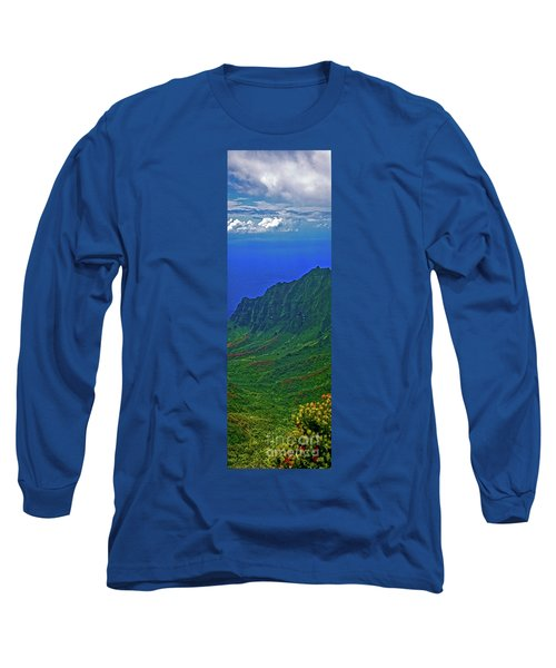 Kauai  Napali Coast State Wilderness Park Long Sleeve T-Shirt by Tom Jelen