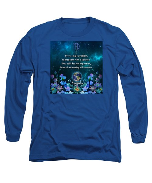 Kaypacha's Mantra 10.28.2015 Long Sleeve T-Shirt by Richard Laeton