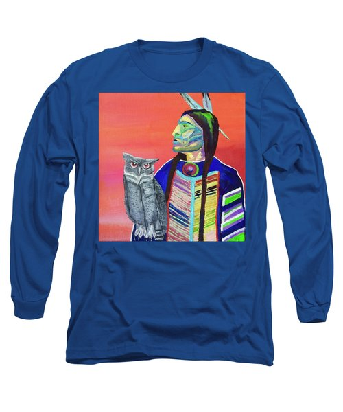 Keeper Of The Night Long Sleeve T-Shirt by Brenda Pressnall