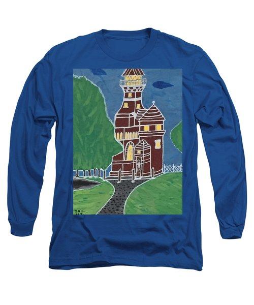Kiel Germany Lighthouse. Long Sleeve T-Shirt by Jonathon Hansen