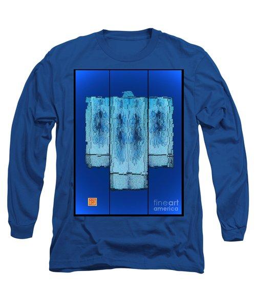Kimono In Blue Long Sleeve T-Shirt