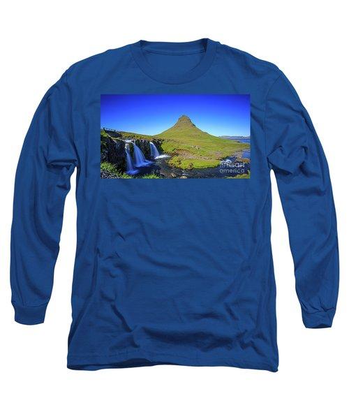 Long Sleeve T-Shirt featuring the photograph Kirkjufell Iceland by Edward Fielding