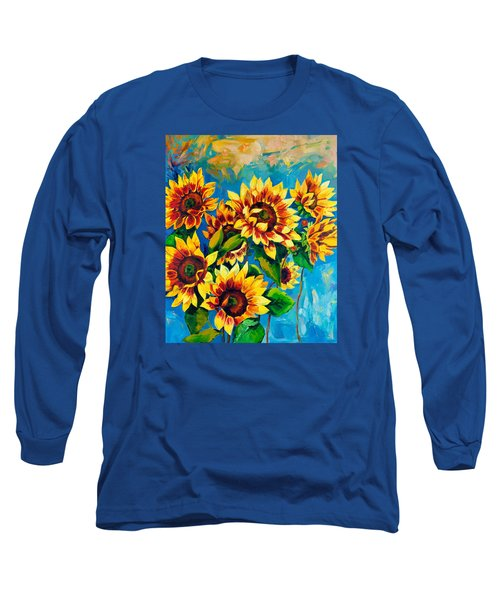 Long Sleeve T-Shirt featuring the painting Kissed By God by Karen Showell