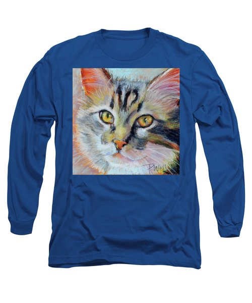Long Sleeve T-Shirt featuring the pastel Kitters II by Pattie Wall