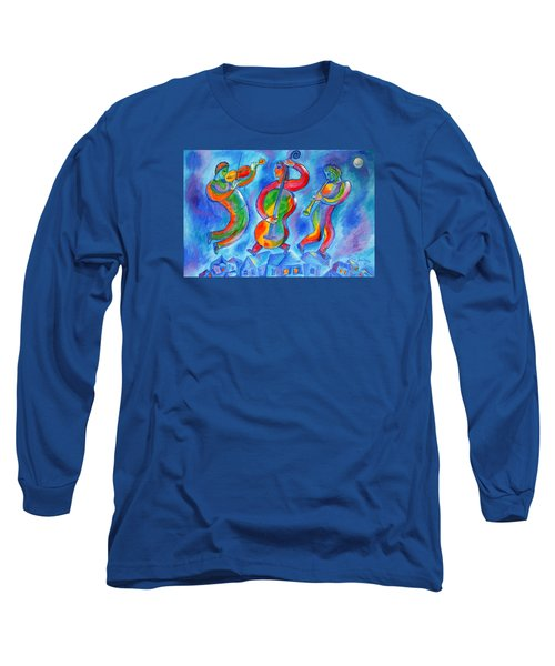 Klezmer On The Roof Long Sleeve T-Shirt by Leon Zernitsky
