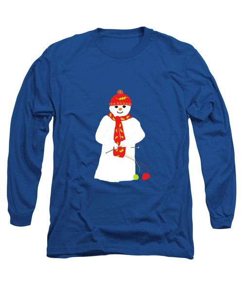 Knitting Snowman Long Sleeve T-Shirt
