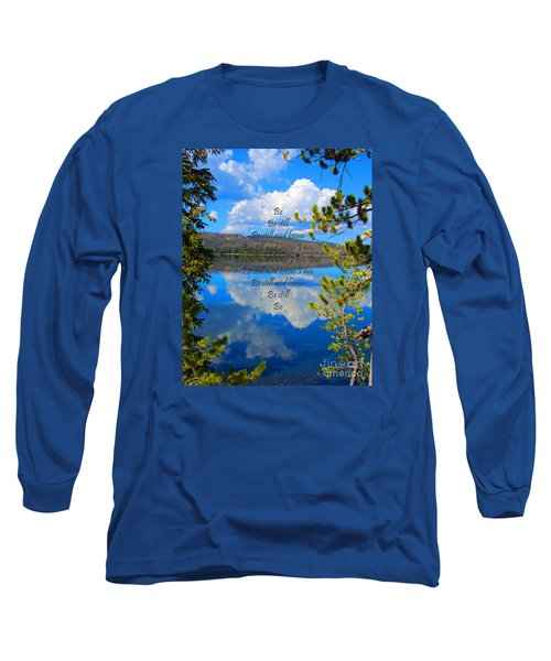 Long Sleeve T-Shirt featuring the photograph Know I Am by Diane E Berry