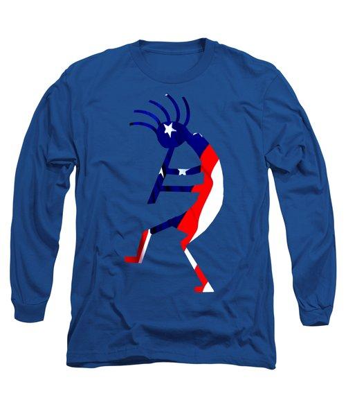 Kokopelli - Patriotic Long Sleeve T-Shirt