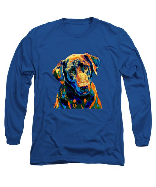 Labrador Retriever Of Many Colors Iv Long Sleeve T-Shirt