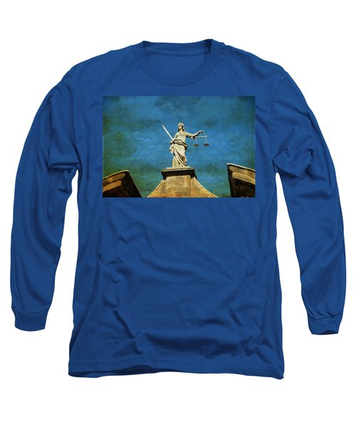 Lady Justice. Streets Of Dublin. Painting Collection Long Sleeve T-Shirt