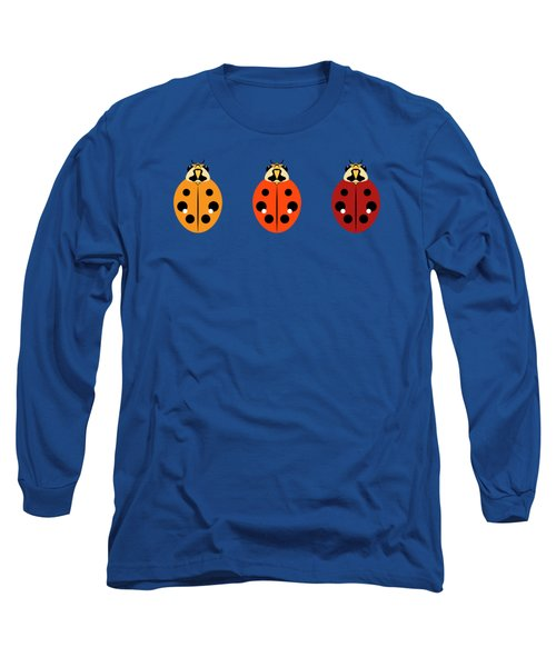 Ladybug Trio Horizontal Long Sleeve T-Shirt by MM Anderson