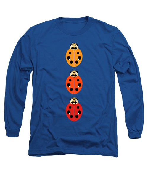 Ladybug Trio Vertical Long Sleeve T-Shirt by MM Anderson
