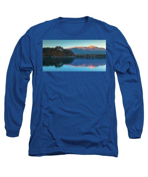 Lake Bled Panorama Long Sleeve T-Shirt