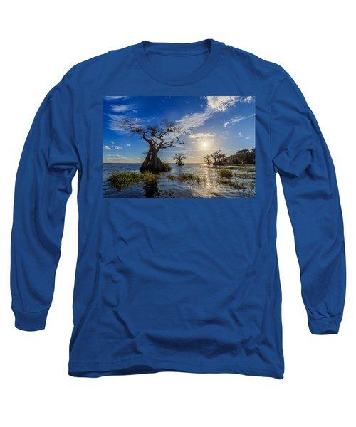 Lake Disston Cypress Paradise Long Sleeve T-Shirt