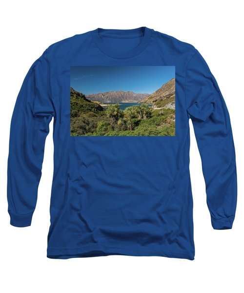 Long Sleeve T-Shirt featuring the photograph Lake Hawea Approach, Otago by Gary Eason