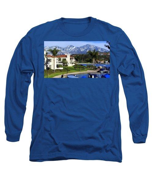 Lake Mission Viejo Snow On Saddleback Mountain Long Sleeve T-Shirt