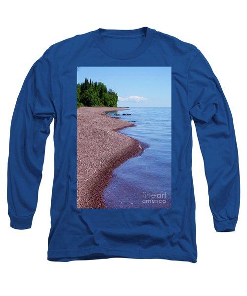 Lakewalk On The Superior Hiking Trail Long Sleeve T-Shirt by Sandra Updyke