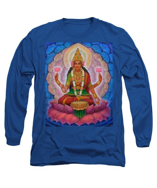 Long Sleeve T-Shirt featuring the painting Lakshmi Blessing by Sue Halstenberg