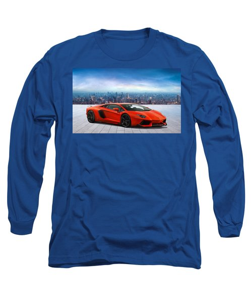 Lambo Cityscape Long Sleeve T-Shirt