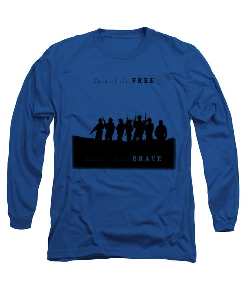Land Of The Free Graphic Long Sleeve T-Shirt