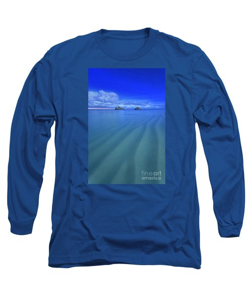 Long Sleeve T-Shirt featuring the photograph Lanikai Beach Ripples In The Sand by Aloha Art