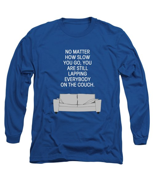 Lap The Couch Long Sleeve T-Shirt by Nancy Ingersoll