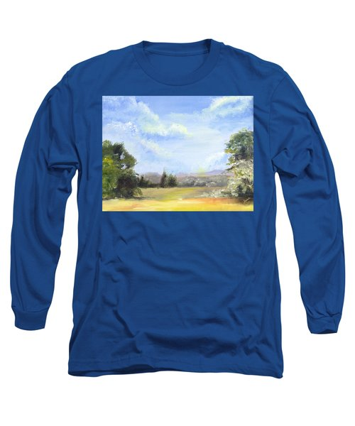 Long Sleeve T-Shirt featuring the painting Lapoint Utah by Jane Autry