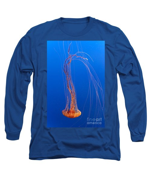 Large Jelly Fish Long Sleeve T-Shirt by Darcy Michaelchuk