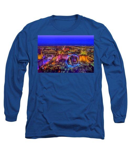 Las-vegas Aerial Golden Hour Long Sleeve T-Shirt