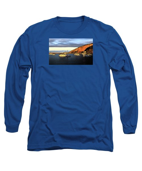 Long Sleeve T-Shirt featuring the photograph Last Rays At The Bay by Nareeta Martin