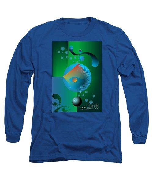 Long Sleeve T-Shirt featuring the digital art Late Night Prayer by Leo Symon