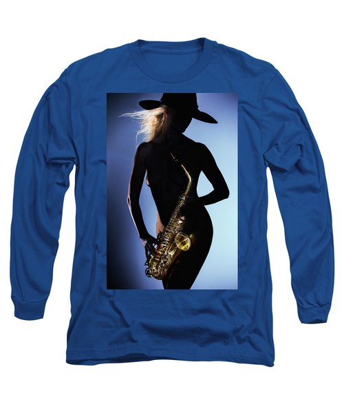 Late Night Sax Long Sleeve T-Shirt