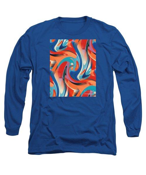 Layered Hot-wax  Long Sleeve T-Shirt