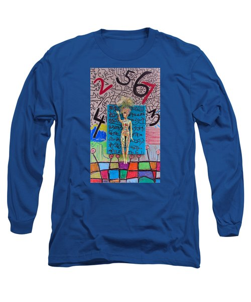Long Sleeve T-Shirt featuring the painting Lemon Balm Herbal Tincture by Clarity Artists