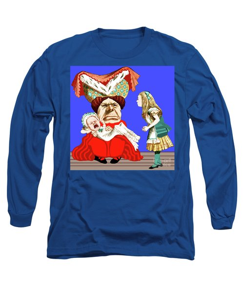 Lewis Carrolls Alice, Red Queen And Crying Infant Long Sleeve T-Shirt