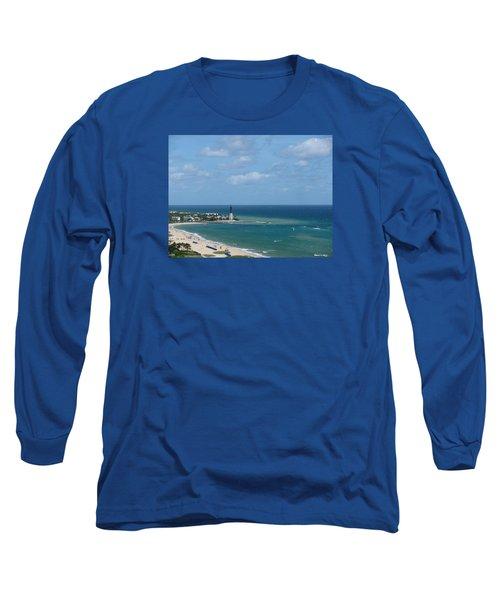 Lighthouse And Kiteboarding Long Sleeve T-Shirt