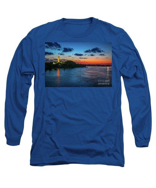 Lighthouse Light Beam Long Sleeve T-Shirt by Tom Claud